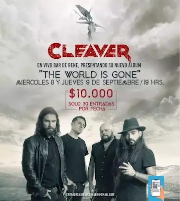 Cleaver regresa al Bar de René con dos fechas en septiembre musica chilena música chilena