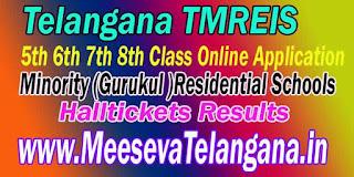 TMREIS Telangana Minority Gurukul-Residential Schools 5th 6th 8th Class Online Application Apply