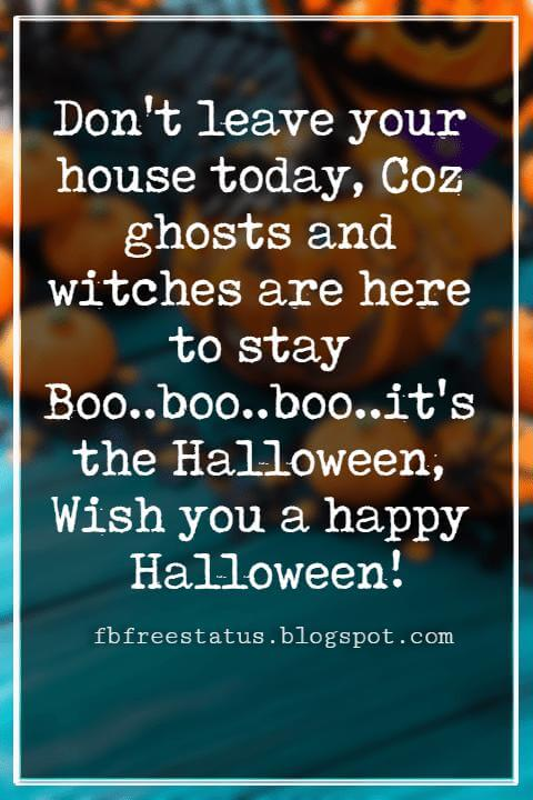 Happy Halloween Greetings Messages For Card,