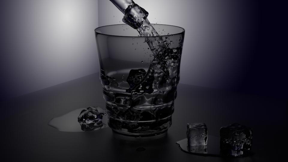 Blender Práctica 11 Vaso De Agua Con Hielos