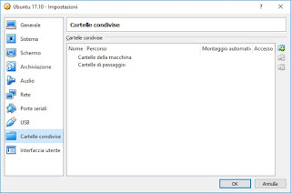 Virtualbox Cartelle condivise