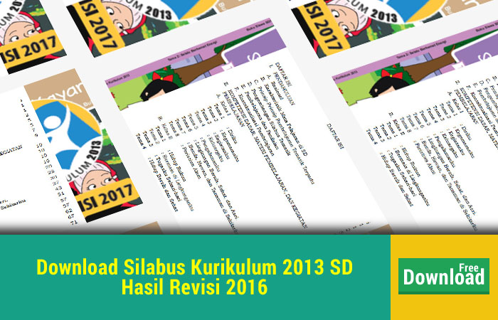 Download Silabus Kurikulum 2013 SD Revisi 2016