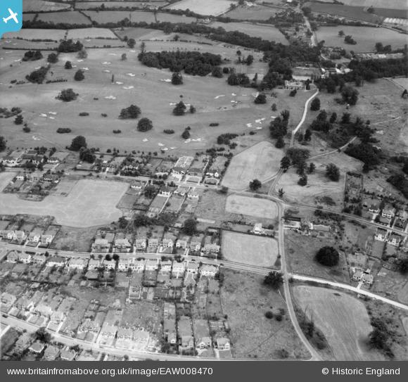 Photograph of Mymms Drive and Brookmans Park Golf Course, Brookmans Park, 1947