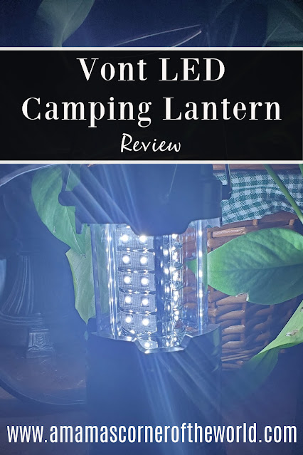 Pinnable Image to Save a Product Review for Vont LED Camping Lantern