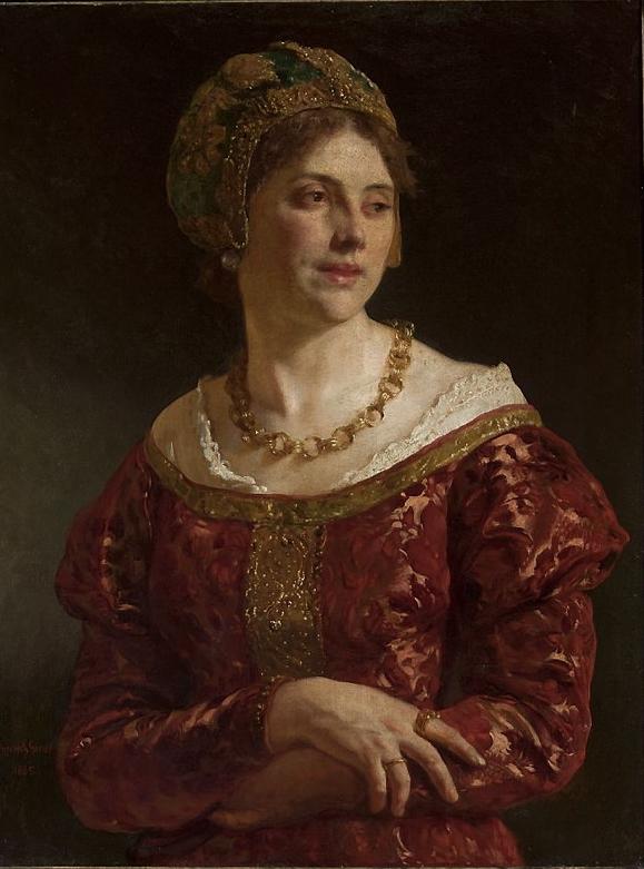 Wojciech Gerson - Portrait of a Woman from Krakow