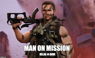 Man on mission