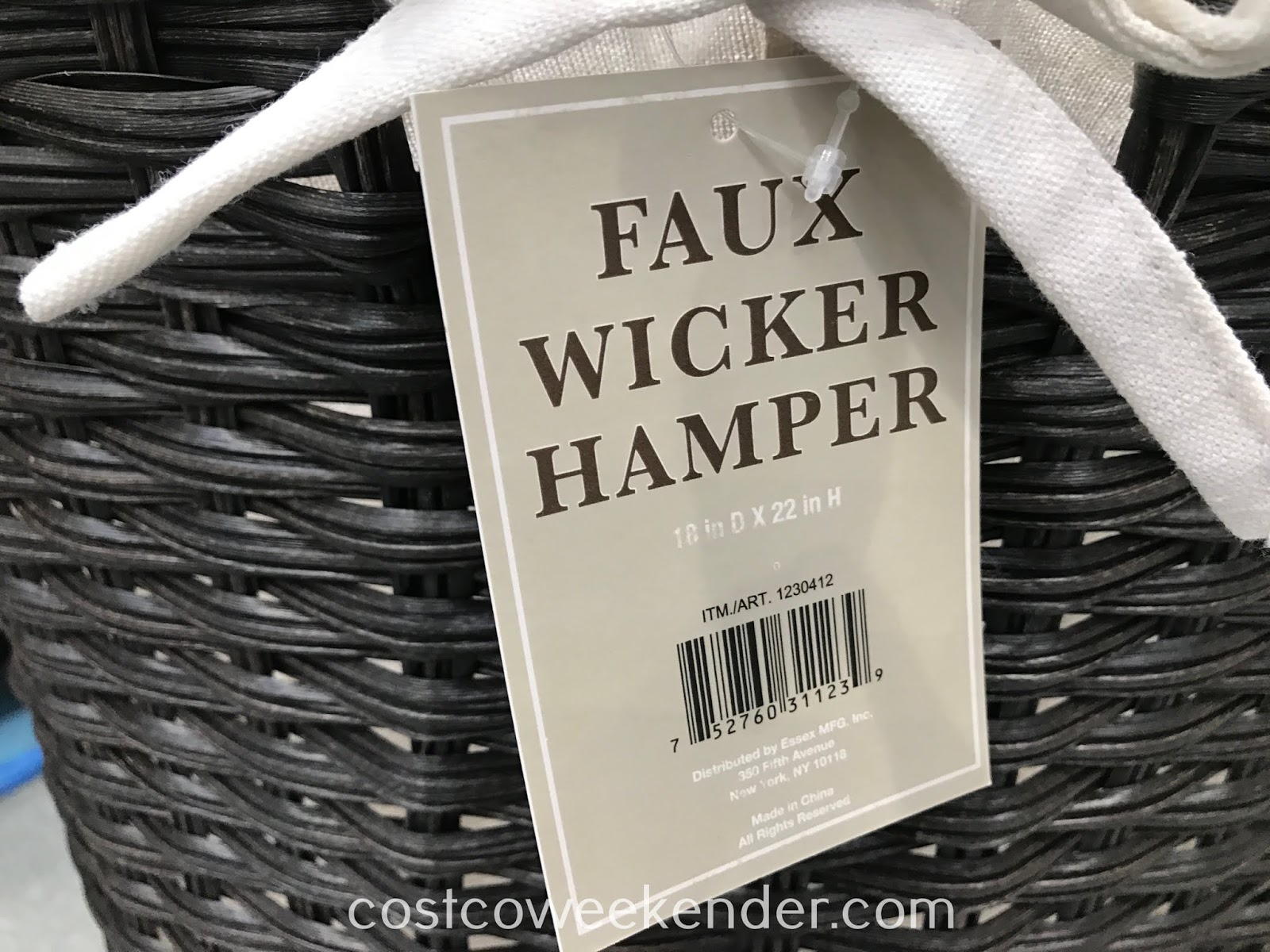 Baum Faux Wicker Hamper: great for any bedroom or bathroom