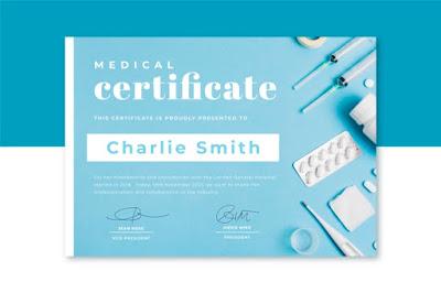 template sertifikat medis