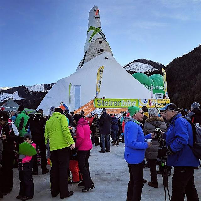 Най-високия снежен човек се намира в Австрия и се казва Рийзи (видео, снимки)