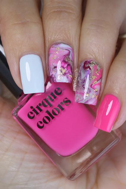 Cirque Colors Drip Marble Nail Art