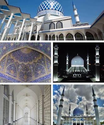 masjid biru shah alam senibina