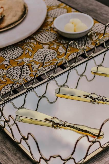 Anthropologie Gold Cutlery Knives