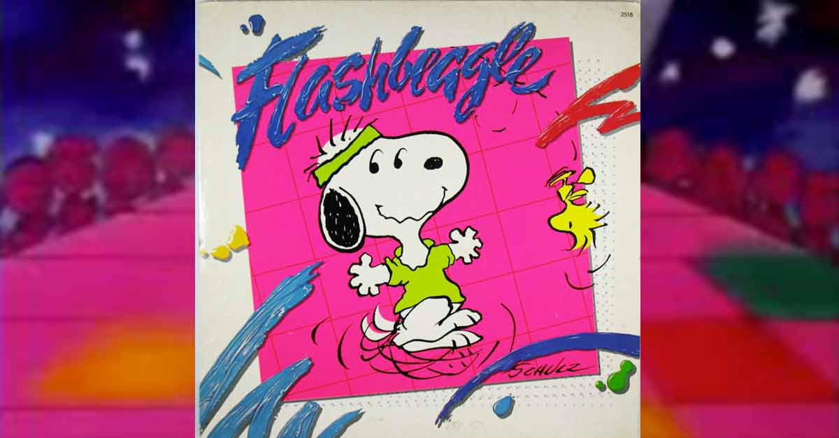 Snoopy e Woodstock in stile ''Flashdance'' anni '80
