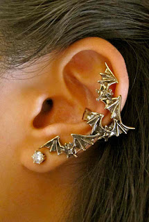 bats ear cuff halloween accessory