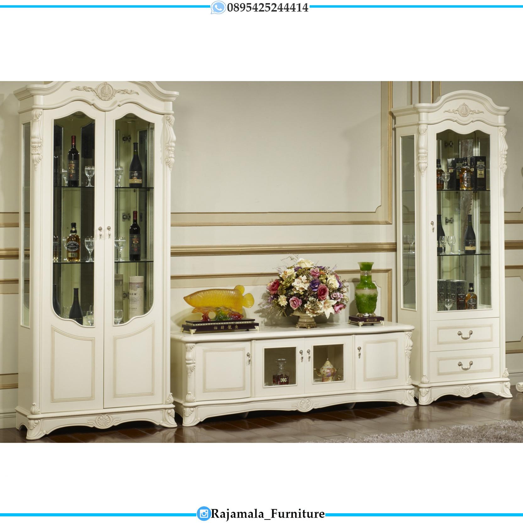 Best Sale Meja TV Mewah Luxury Classic Jepara RM-0103