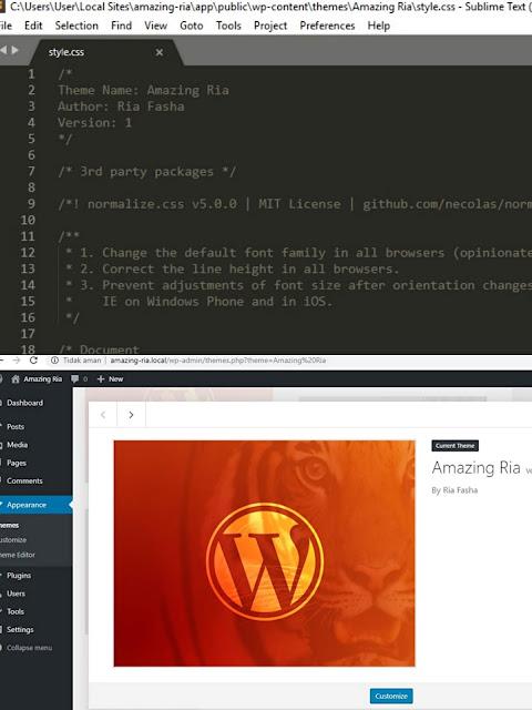 membuat tema wordpres dengan editor sublime text