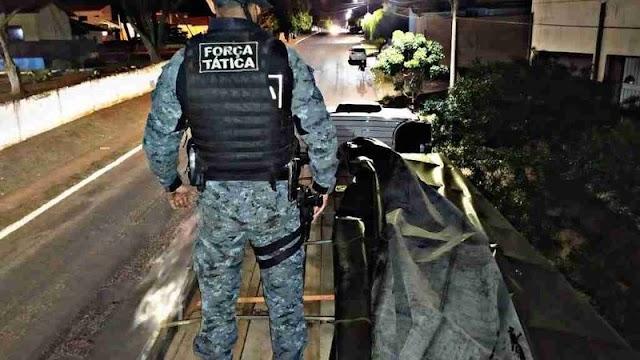 Polícia apreende carga ilegal de madeira avaliada em R$ 1,1 milhão na MS-276