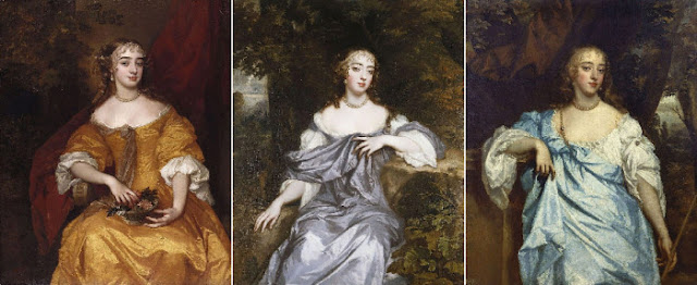 As belezas de Windsor: Margaret Brooke, Lady Danham; Frances Brooke, Lady Whitmore; Mary Bagot, condessa de Falmouth
