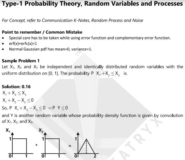 Probability Theory, Random Variables and Processes Material