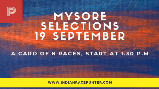 Mysore Race Selections 19 September