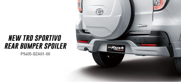 New TRD Sportivo rear bumper Spoiler belakang Toyota New Rush