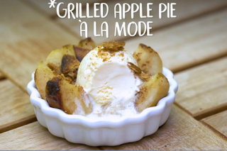 Grilled Apple Pie à la Mode