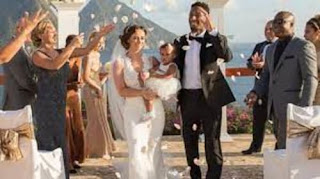 Logan Ryan With His Wife And Daughter On Their Wedding Day