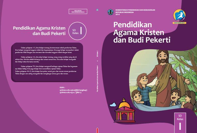 Download Gratis Buku Guru dan Buku Siswa Pendidikan Agama Kristen dan Budi Pekerti SD Kelas 1 Kurikulum 2013 Format PDF