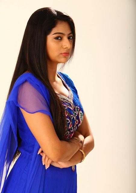 Saara Deva Beautiful Tamil Actress Still in Blue Salwar Kameez Navel Queens