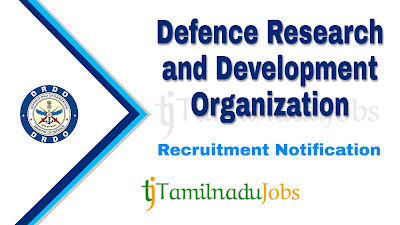 DRDO Recruitment 2020,  DRDO Recruitment Notification 2020, central govt jobs, Latest DRDO Recruitment update