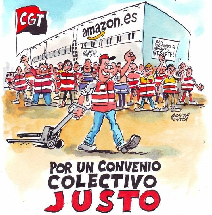 Trabajadores de Amazon en Madrid llaman la solidaridad al resto de ...