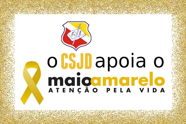 Colégio Santa Joana D'Arc, participa efetivamente da campanha maio amarelo.