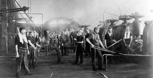 Ρετρό εικόνα Αμερικανών εργατών της Χαλυβουργίας