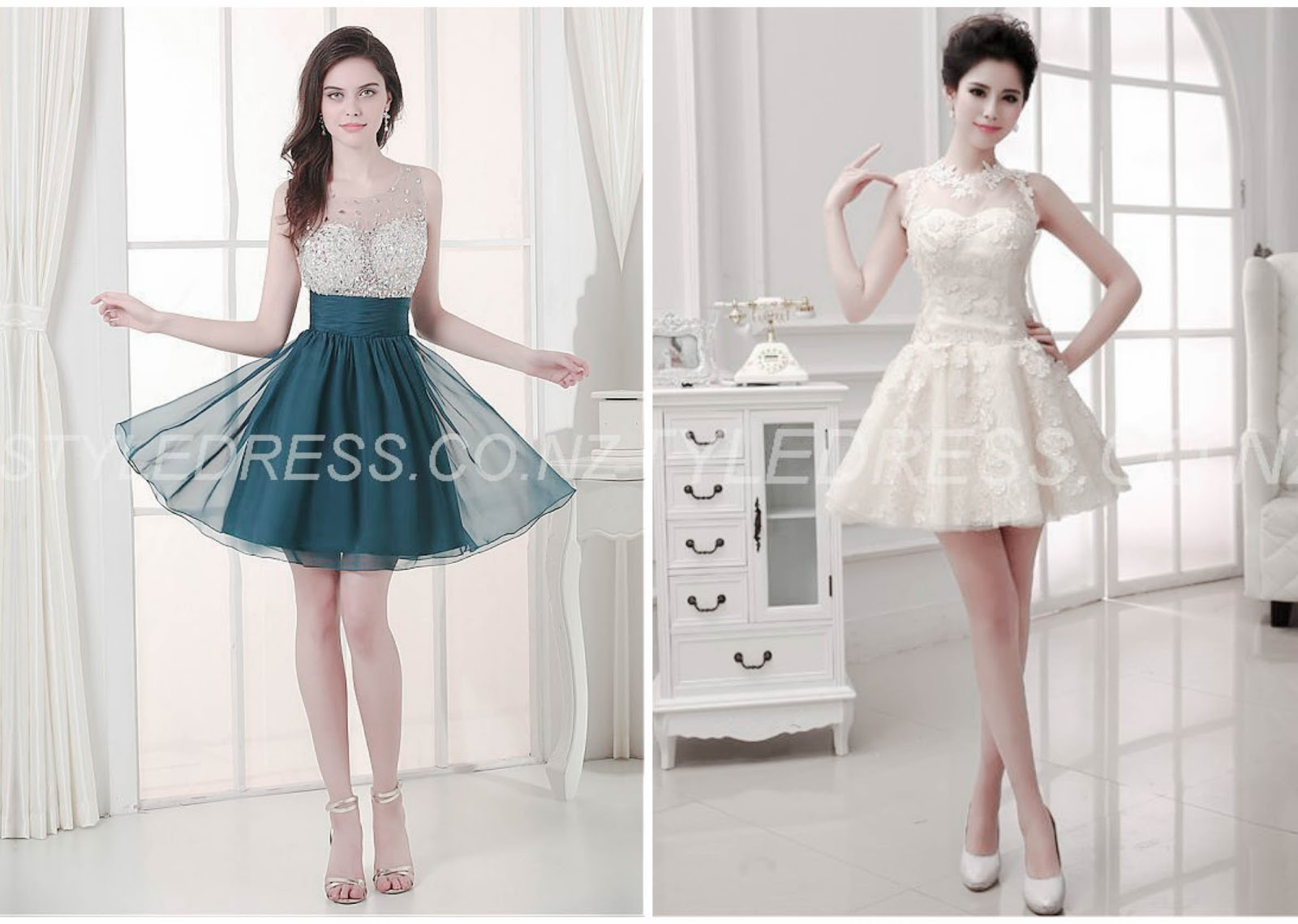 Sexy Jewel Neckline Asymmetrical A-line Homecoming Dress