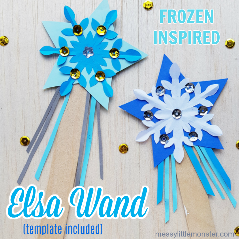 Elsa Magic Wand Craft - A magical craft for Frozen fans!