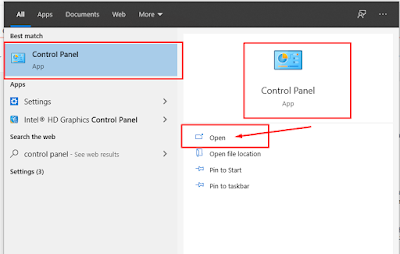 cek alamat ip melalui control panel windows