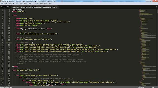 cara mudah membuat web menggunakan bootstrap