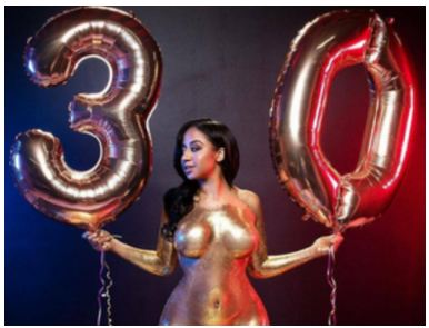 Lady Goes Totally N@KK3d For Her 30th Birthday Shoot, This Is Crazy!