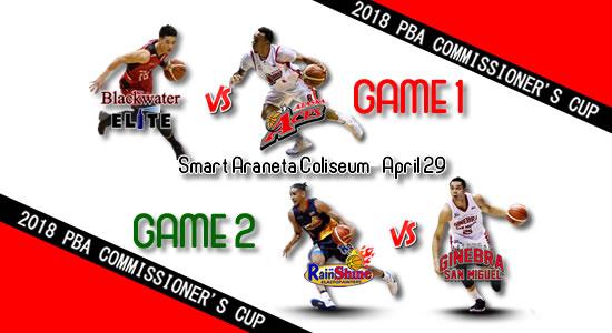 List of PBA Games: April 29 at Smart Araneta Coliseum 2018 PBA Commissioner's Cup