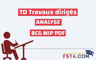 TD ANALYSE CORRIGE BCG MIP PDF