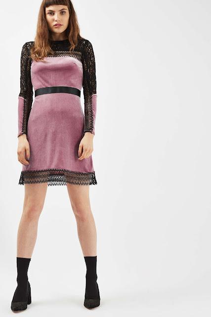 pink velvet dress, pink black velvet dress,