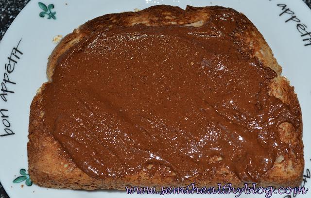 justin's nut butter hazelnut chocolate on toast