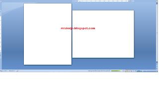 Membuat Halaman Potrait dan Landscape Ms. Word dalam Satu Dokumen