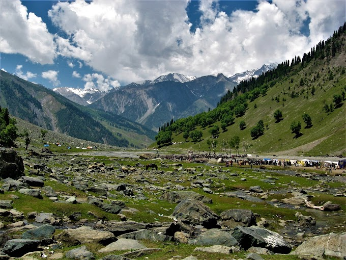 Rocky Valley at Pahalgam