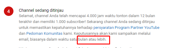Mencapai 1000 subscriber Berapa Lama Chanel Youtube ditinjau