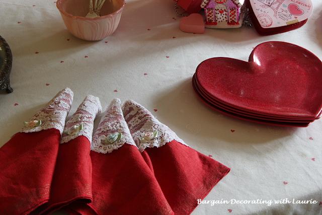 Valentine Tea Napkins