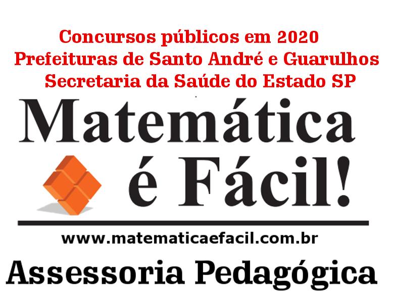 Concursos públicos no início de 2020: Prefeituras de Santo André e Guarulhos, Secretaria da Saúde do Estado de São Paulo