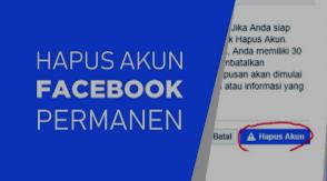 Cara Menghapus Akun Facebook Sendiri Secara Permanen 1