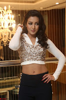 Catherine Tresa in a White Glittering Crop Top Black Leggings  Exclusive 010.JPG