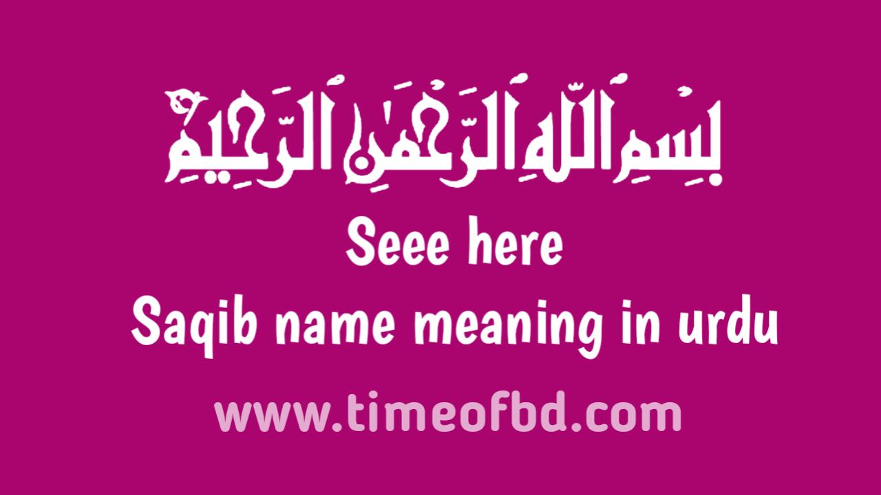 Saqib name meaning in urdu, ثقب نام کا مطلب اردو میں